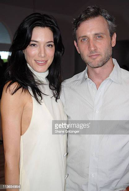 Jaime Murray and Dan Abrams during Hamptons Magazine 7th Annual Memorial Day Barbecue in Southhampton New York United States