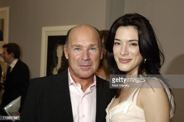 Jaime Murray and Hannibal Reitano during Robert Mapplethorpe Exhibition Private View at Alison Jacques Gallery in London United Kingdom