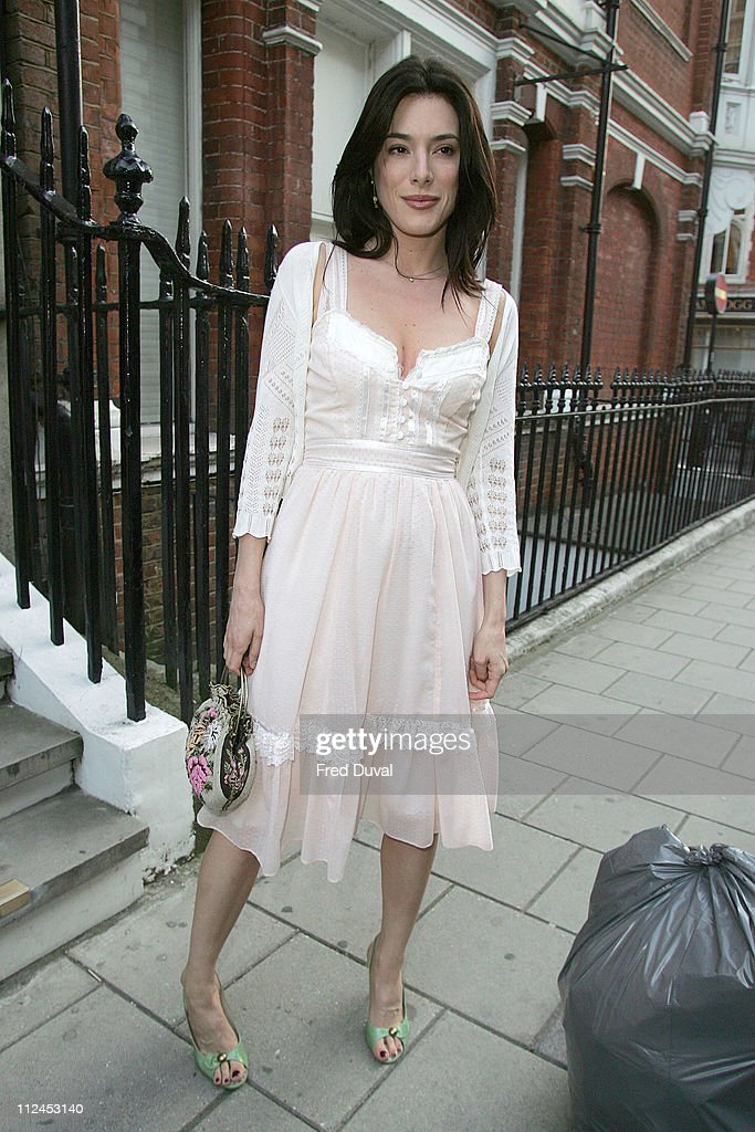 Jaime Murray during Robert Mapplethorpe Exhibition Private View Outside Arrivals at Alison Jacques Gallery in London Great Britain