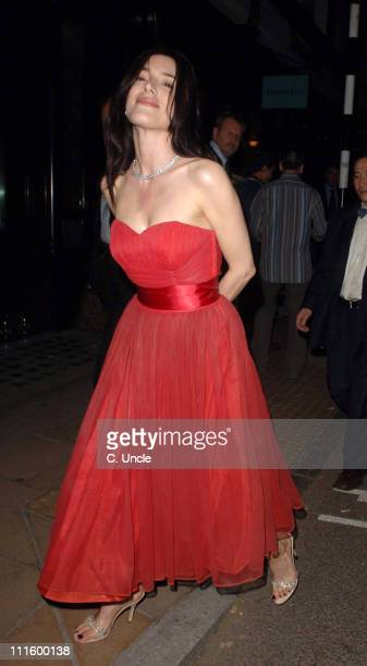 Jaime Murray during Tiffany Co Store Relaunch Party Arrivals at Old Bond Street in London Great Britain