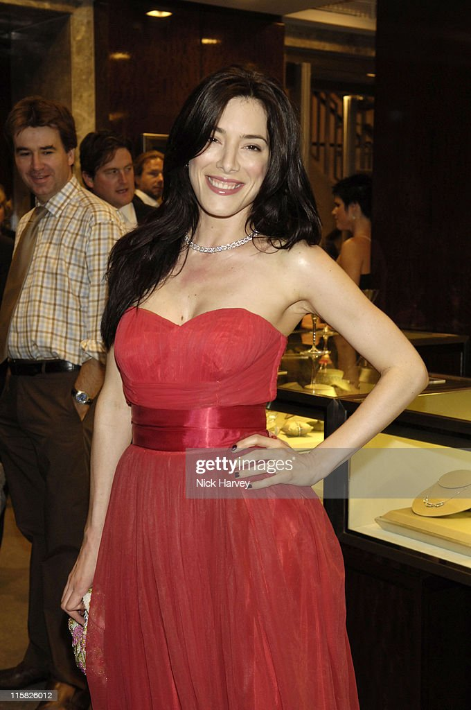 Jaime Murray during Tiffany Co Store Relaunch Party at Tiffany Co Old Bond Street in London Great Britain