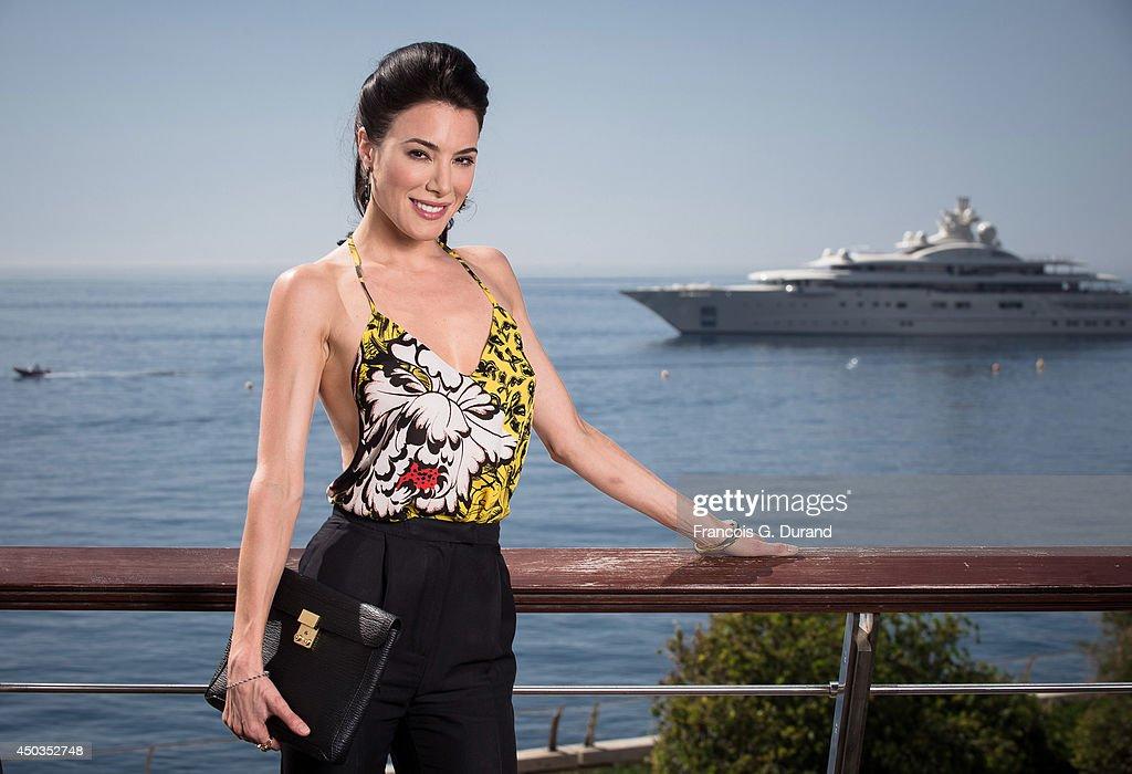 Jaime Murray poses during a portrait session at Grimaldi Forum on June 9 2014 in Monaco Monaco