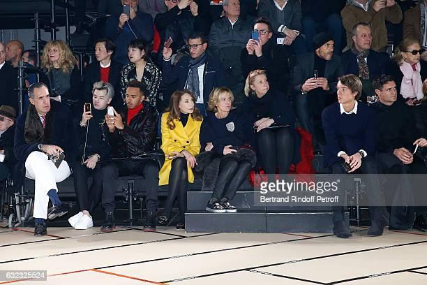 Jaime of marichalar guest Formula One driver Lewis Hamilton Marisa Berenson guest Alexandre Arnault and Dan Carte attend the Dior Homme Menswear...