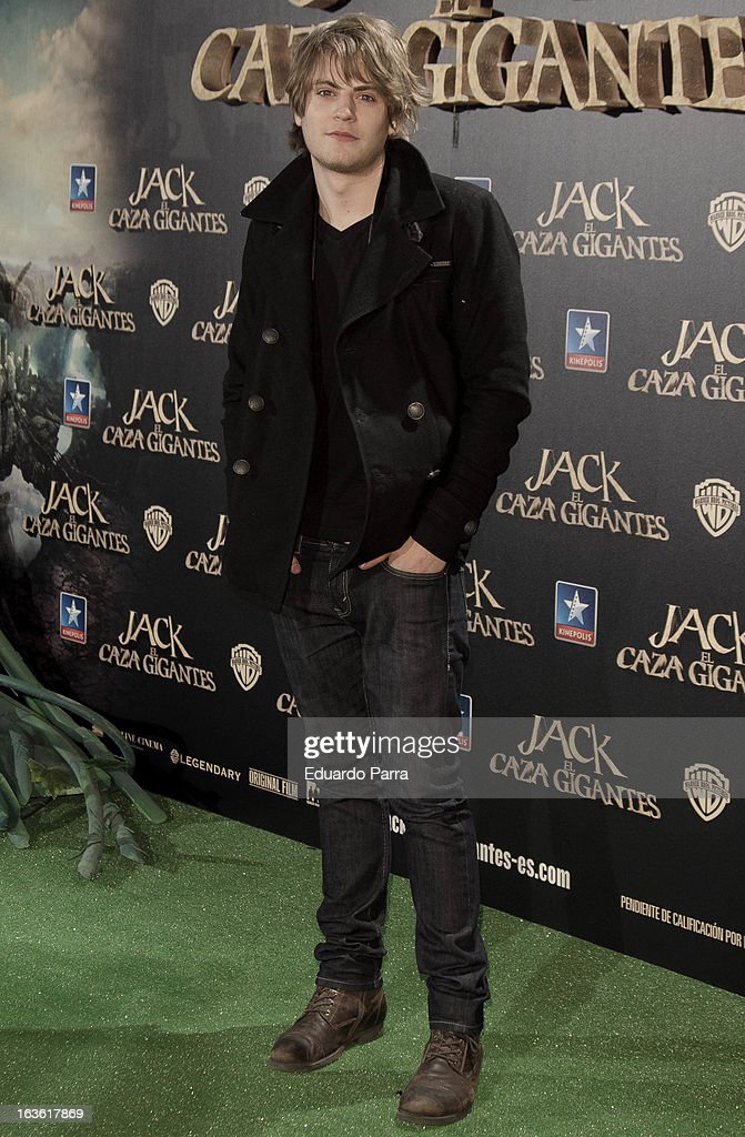 Jaime Olias attends 'Jack el Caza Gigantes' premiere photocall at Kinepolis cinema on March 13, 2013 in Madrid, Spain.