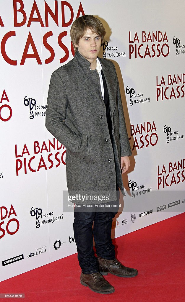 Jaime Olias attends 'La Banda Picasso' premiere on January 24, 2013 in Madrid, Spain.