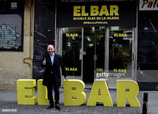 Jaime Ordonez attends 'El Bar' Photocall at Paletinos bar on March 22 2017 in Madrid Spain