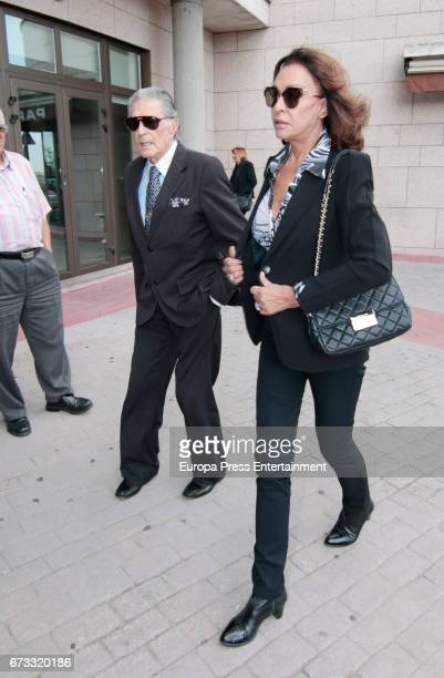 Jaime Ostos and Maria Angeles Grajal attends the funeral chapel for the bullfighter Sebastian Palomo Linares on April 25 2017 in Madrid Spain