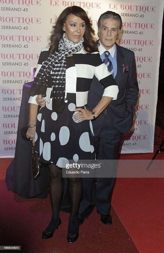 Jaime Ostos and Maria Angeles Grajal attends the photocall for the birthday party of Norma Duval at Le Boutique on April 4, 2013 in Madrid, Spain.