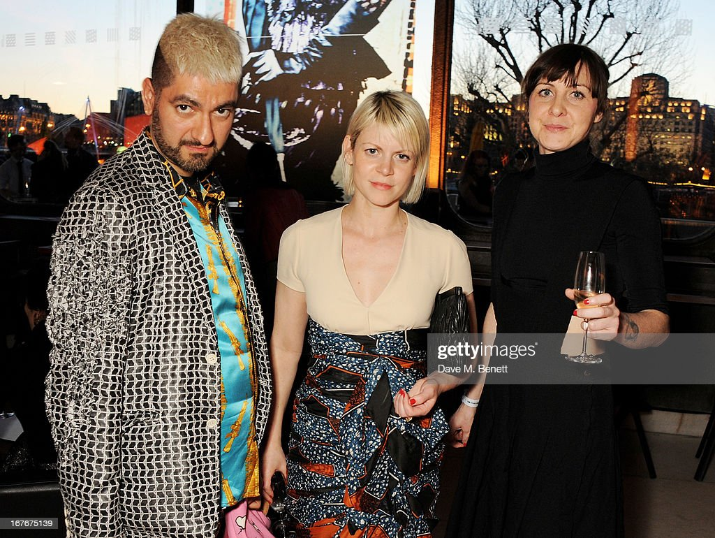 Jaime Pearlman (C) attends the opening party for The Vogue Festival 2013 in association with Vertu at Southbank Centre on April 27, 2013 in London, England.