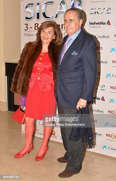 Jaime Penafiel and Carmen Alonso attend SICAB 2013 the International Horse Fair of Spain on December 7 2013 in Seville Spain
