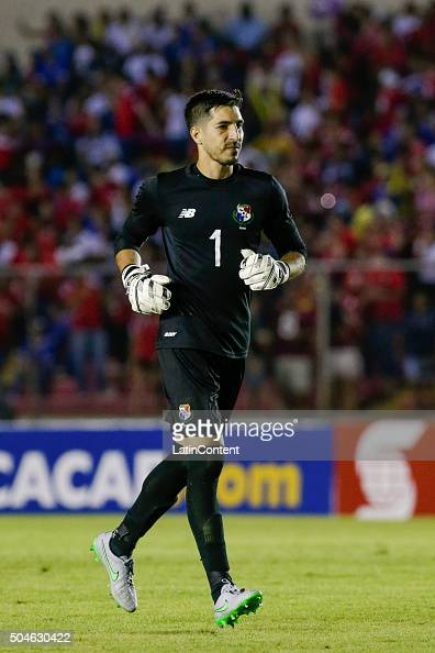 Jaime Penedo goalkeeper of Panama runs on the field during the match between Cuba and Panama as part of the Copa America Centenario Qualifiers at...