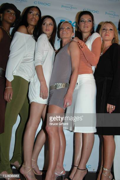 Jaime Pressly and Adrianne Curry with Jaime Pressly models