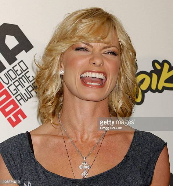 Jaime Pressly during 2005 Spike TV Video Game Awards Arrivals at Gibson Amphitheater in Universal City California United States