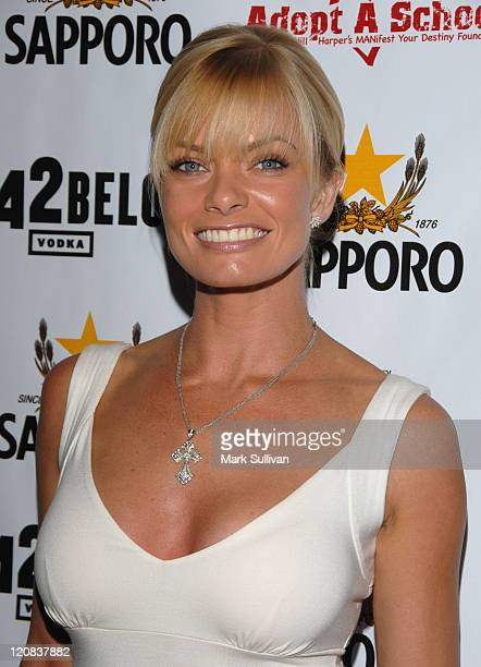Jaime Pressly during Sapporo Presents Jaime Pressly and Hill Harper's AdoptASchool Initiative at Private Estate in Los Angeles California United...