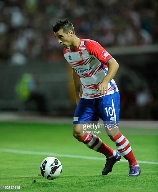 Jaime Romero of Granada in action during the La Liga match between Granada CF and Sevilla FC at Estadio Nuevo Los Carmenes on August 26 2012 in...