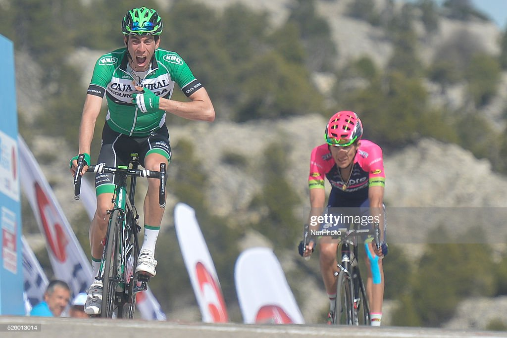 Jaime Roson Garcia, a Spanish rider from Caja Rural-Seguros Rga wins the six stage ahead of Polish Przemyslaw Niemiec from Lampre-Merida team, during the 52nd Presidential Tour of Turkey 2016, the 117 km from Kumluca to Elmali. On Friday, 29 April 2016, in Elmali, Turkey.