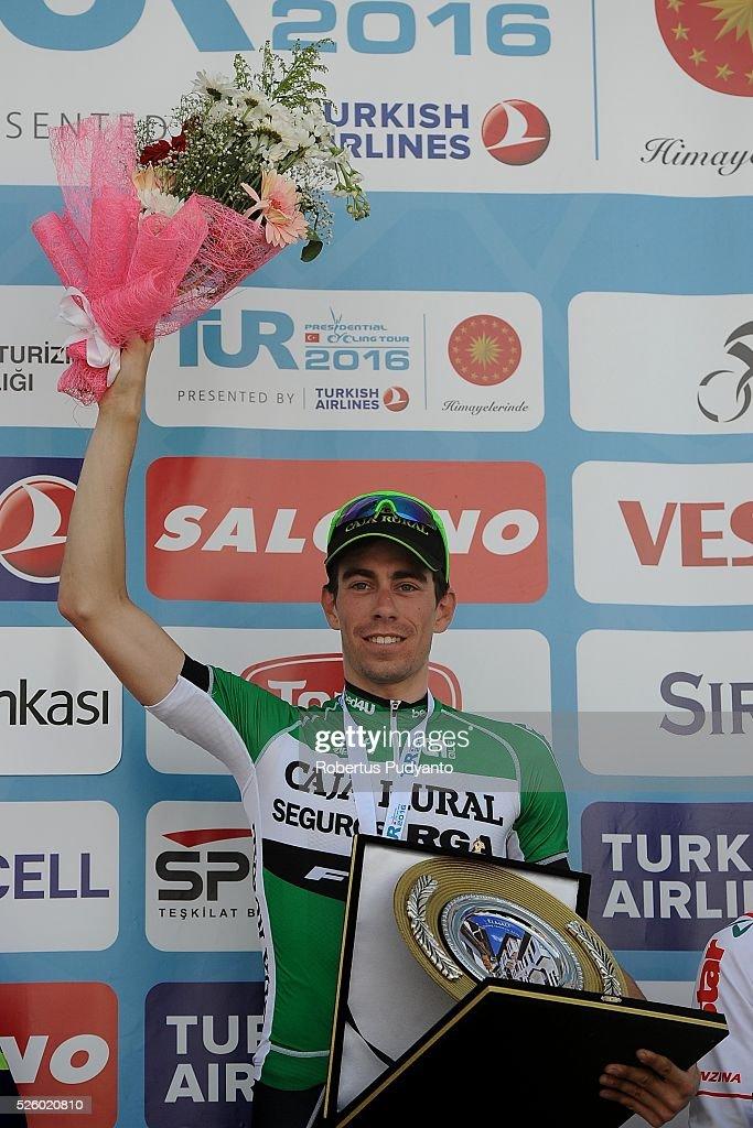 Jaime Roson Garcia of Caja Rural-Seguros RGA celebrates on the podium after winning Stage 6 of the 2016 Tour of Turkey, Kumluca to Elmali (117 km) on April 29, 2016 in Ankara, Turkey.