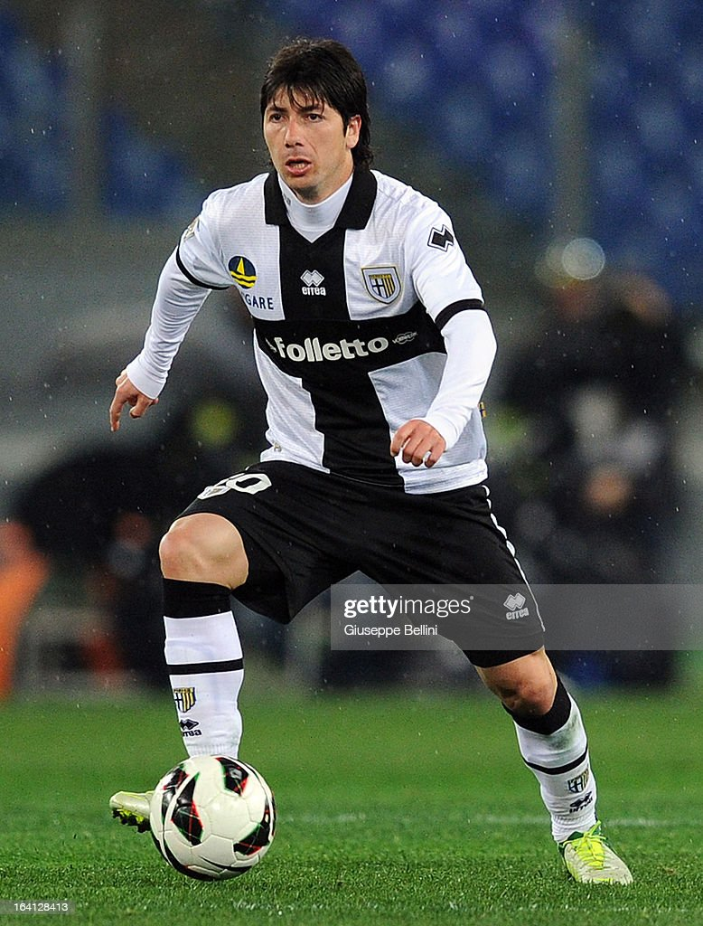 Jaime Valdes of Parma in action during the Serie A match between AS Roma and Parma FC at Stadio Olimpico on March 17, 2013 in Rome, Italy.