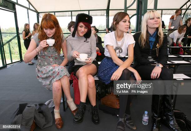 Jaime Winstone and Alexa Chung at the show by Luella during London Fashion Week at the Greenhouse by the Serpentine Hyde Park London