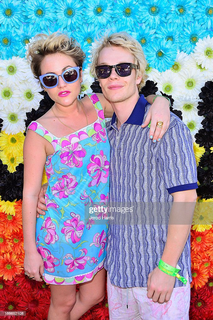 <a gi-track='captionPersonalityLinkClicked' href=/galleries/search?phrase=Jaime+Winstone&family=editorial&specificpeople=834918 ng-click='$event.stopPropagation()'>Jaime Winstone</a> and <a gi-track='captionPersonalityLinkClicked' href=/galleries/search?phrase=Alfie+Allen&family=editorial&specificpeople=885196 ng-click='$event.stopPropagation()'>Alfie Allen</a> attend REVOLVEclothing's VIP Festival Event - Day 2 at The Saguaro Palm Springs on April 14, 2013 in Palm Springs, California.