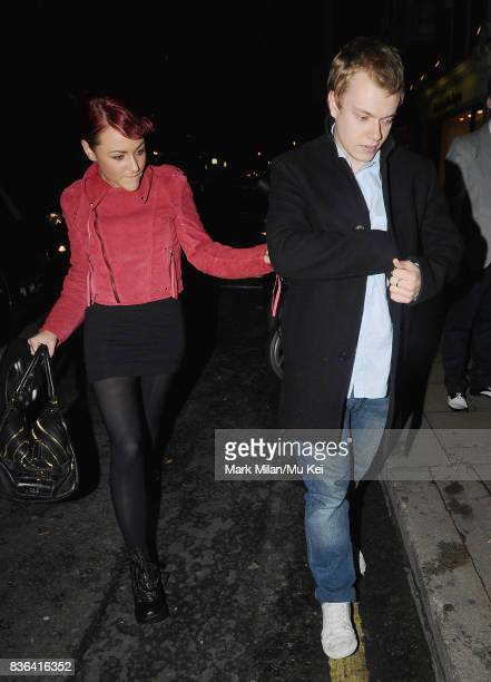 Jaime Winstone and Alfie Allen attending the 'Beautiful Inside My Head' party at Sotheby's auction house in Bond Street on September 12 2008 in...
