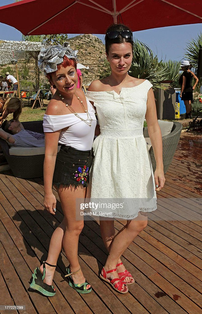 Jaime Winstone (L) and Gizzi Erskine attend the Ibiza Summer Party at Can Batista on August 22, 2013 in Ibiza, Spain.