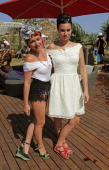 Jaime Winstone and Gizzi Erskine attend the Ibiza Summer Party at Can Batista on August 22 2013 in Ibiza Spain