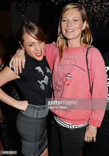Jaime Winstone and Kate Moss attend the launch of Same Old Sean's new EP 'Reckless' at Cafe KaiZen on November 13 2014 in London England