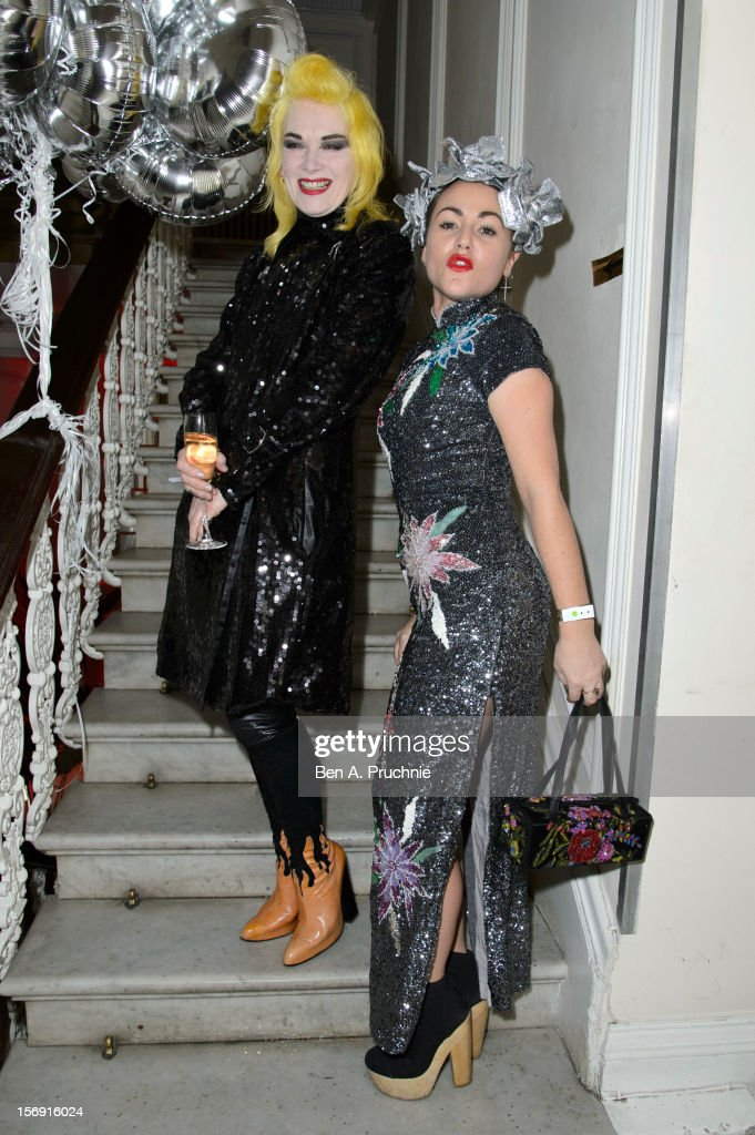 Jaime Winstone and Pam Hogg attends the Cuckoo Club and Show Pony pop up club at Grosvenor Place on November 24, 2012 in London, England.