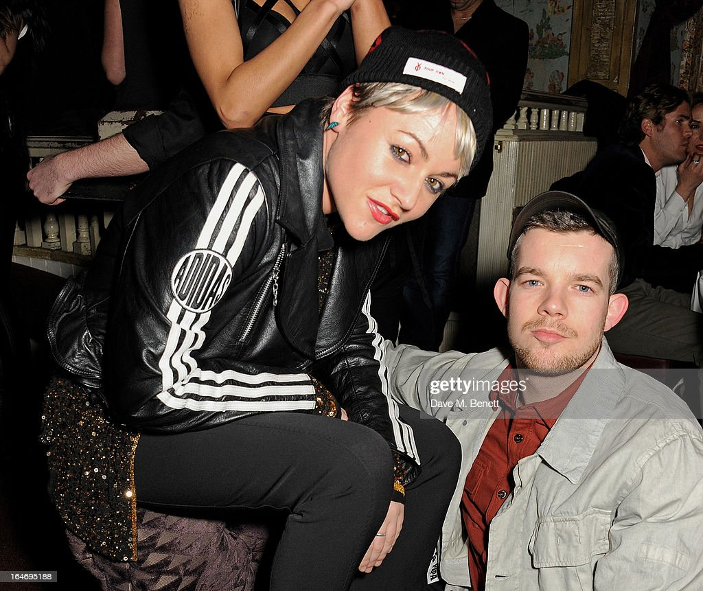 Jaime Winstone (L) and Russell Tovey attend the ABSOLUT Elyx launch party at The Box Soho on March 26, 2013 in London, England.