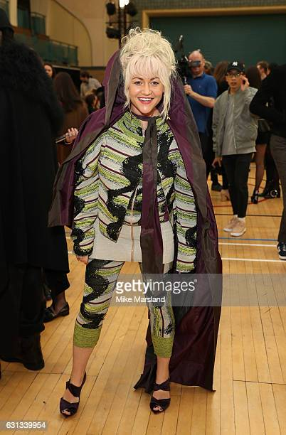 Jaime Winstone and son Raymond attend the Vivienne Westwood show during London Fashion Week Men's January 2017 collections at on January 9 2017 in...