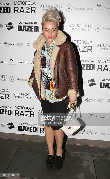 Jaime Winstone arrives at an exhibition celebrating the 20th anniversary of Dazed Confused Magazine in partnership with Motorola coinciding with the...