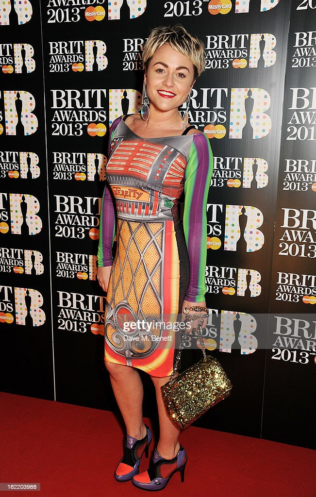Jaime Winstone arrives at the BRIT Awards 2013 at the O2 Arena on February 20, 2013 in London, England.