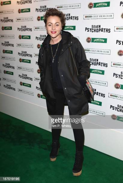 Jaime Winstone arrives at the Jameson Cult Film Club gala premiere of Seven Psychopaths at Oval Space on November 27 2012 in London England Jameson...