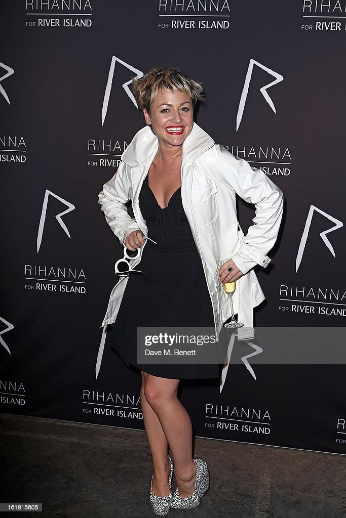 Jaime Winstone arrives for the Rihanna for River Island fashion show during London Fashion Week Fall/Winter 2013/2014 at the Old Sorting Office on February 16, 2013 in London, England.