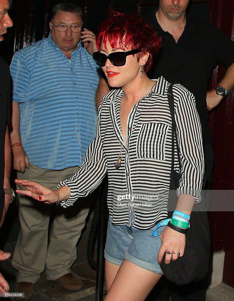 Jaime Winstone at Lou Lou's club on July 13, 2013 in London, England.
