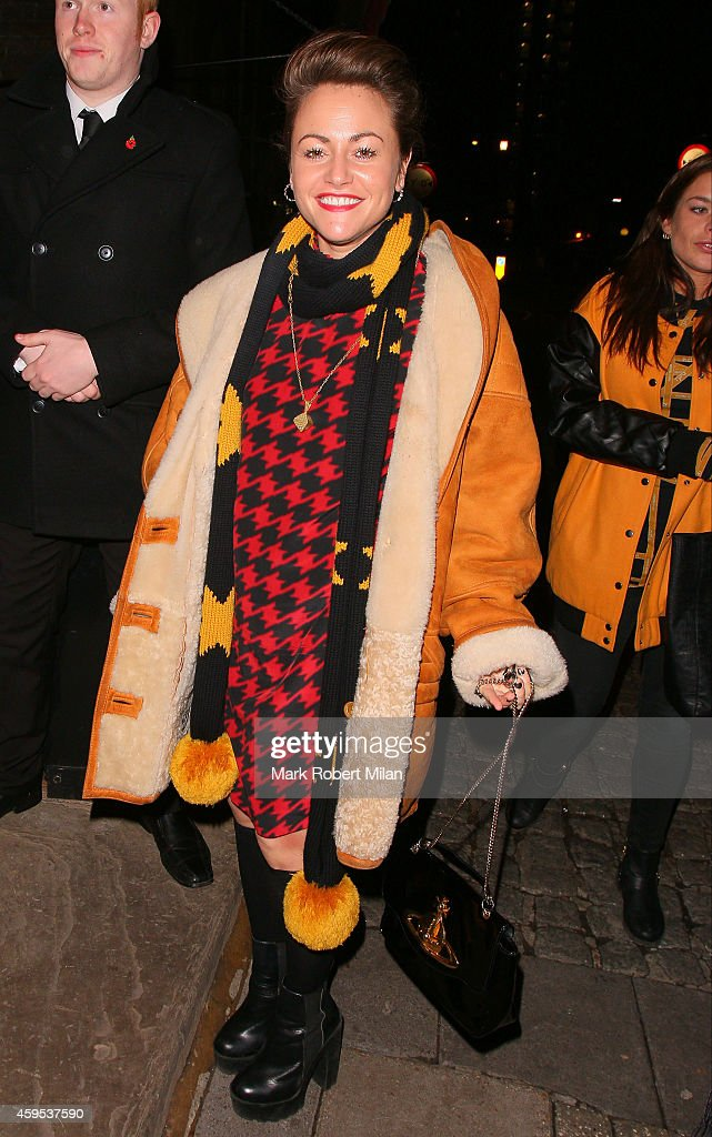 Jaime Winstone attending the Coach at the Cow Pub dinner on November 24 2014 in London England