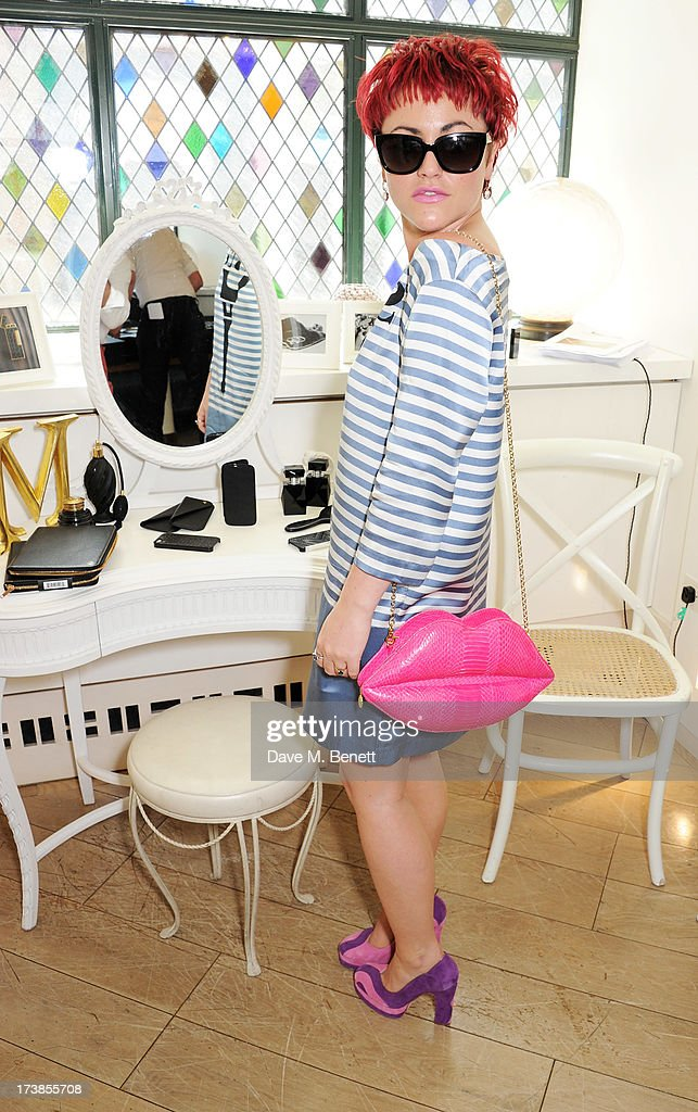 Jaime Winstone attends a first look at a new range of tech accessories for Carphone Warehouse, designed exclusively by Kate Moss for the high street brand, at The Club at The Ivy on July 18, 2013 in London England. The range of smartphone and tablet accessories goes on sale nationwide later this month.