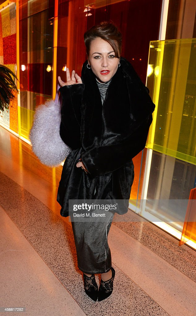 Jaime Winstone attends Sushisamba's second anniversary celebration with a performance by Lily Allen at VIP at Sushi Samba on November 11, 2014 in London, England.