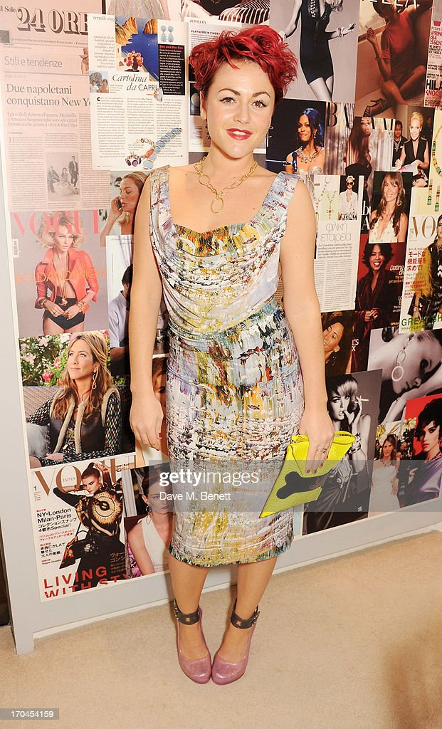 Jaime Winstone attends the 12th birthday of New York jewellery house Faraone Mennella, with guest of honour Patricia Field, at their Knightsbridge store on June 13, 2013 in London, England.