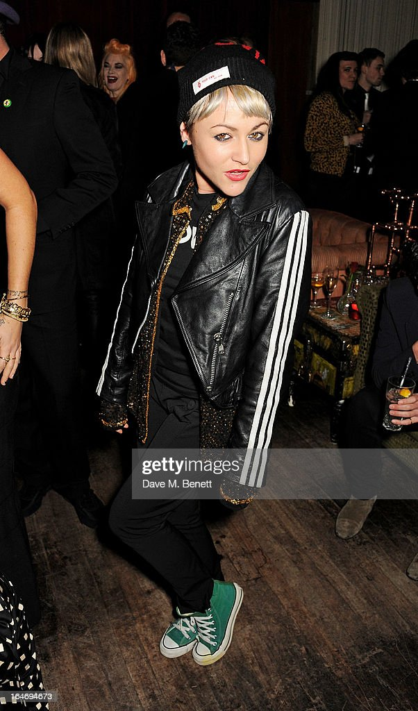 Jaime Winstone attends the ABSOLUT Elyx launch party at The Box Soho on March 26, 2013 in London, England.