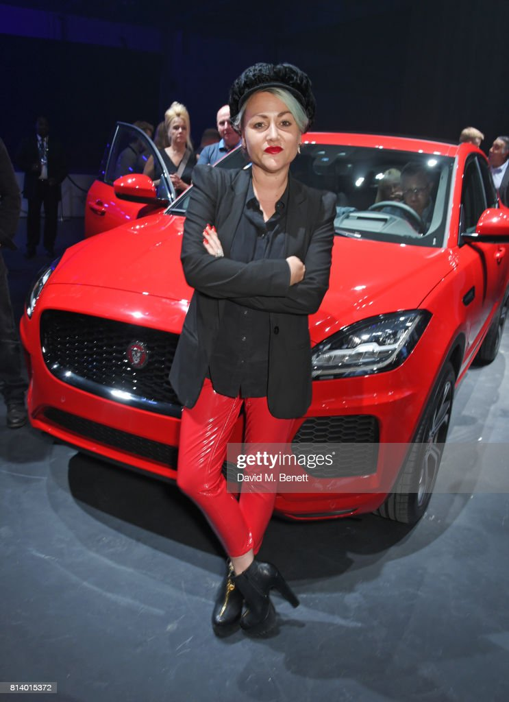 Jaime Winstone attends the all-new Jaguar E-Pace reveal at ExCel on July 13, 2017 in London, England. Jaguar's newest model was launched with an epic barrel roll of 15 metres, 30 centimetres and saw renowned stunt driver Terry Grant set a new world record for the longest barrel roll in a production vehicle.