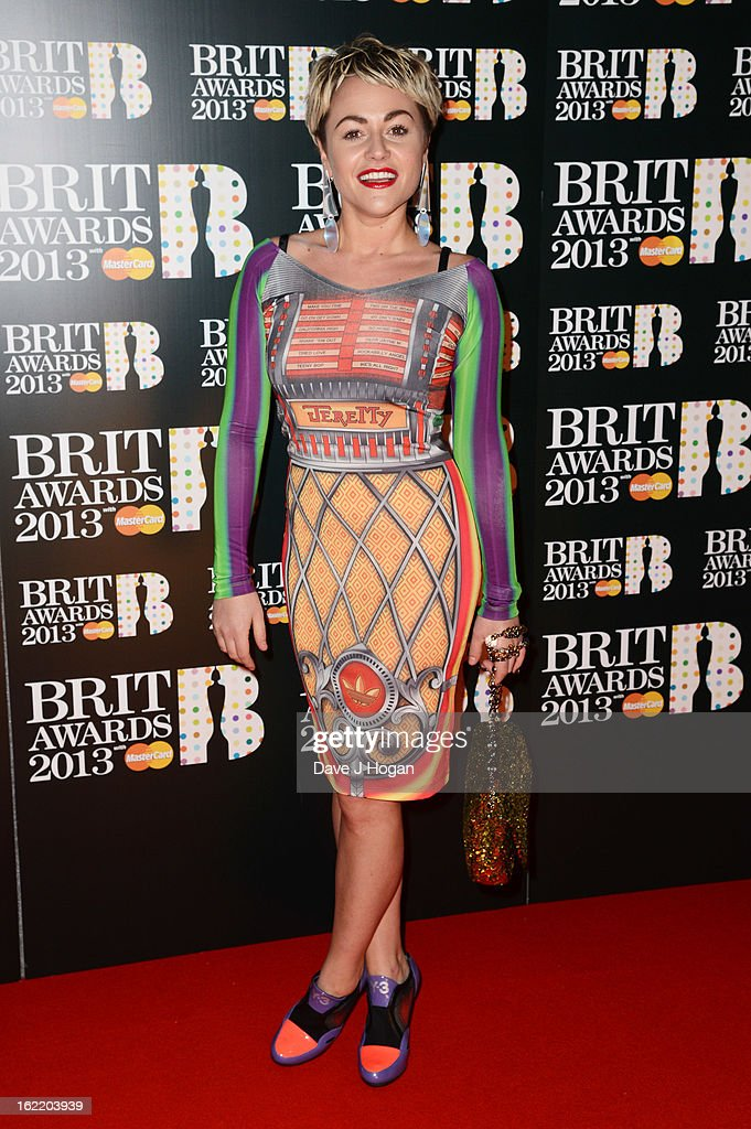 Jaime Winstone attends The Brit Awards 2013 at The O2 Arena on February 20, 2013 in London, England.