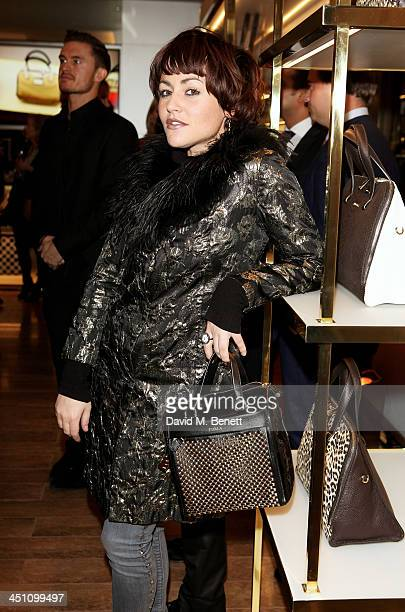 Jaime Winstone attends the Furla flagship store reopening on November 21 2013 in London England