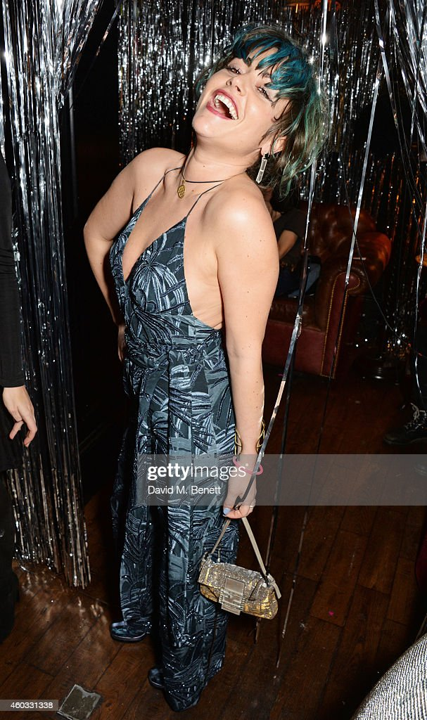 Jaime Winstone attends the Glam Rock Christmas party to celebrate the collaboration between House of Hackney and Terry De Havilland at The Scotch of...