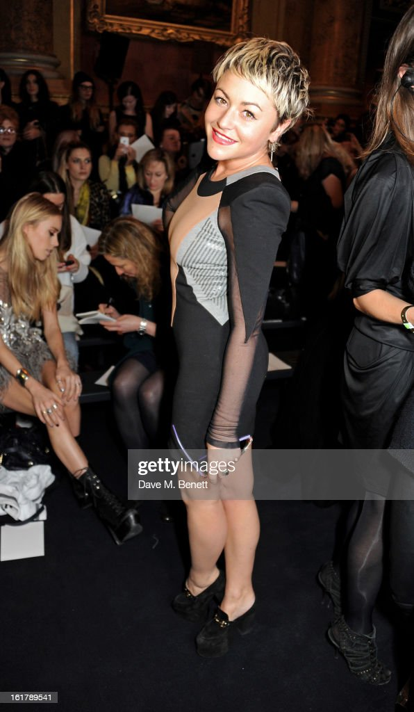 Jaime Winstone attends the Julien Macdonald show during London Fashion Week Fall/Winter 2013/14 at Goldsmiths' Hall on February 16, 2013 in London, England.