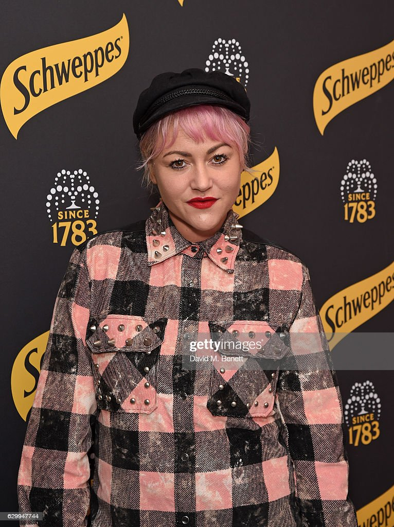 Jaime Winstone attends the Schweppes 12 Twist Of Chrsitmas pop up bar launch party on December 15, 2016 in London, England.