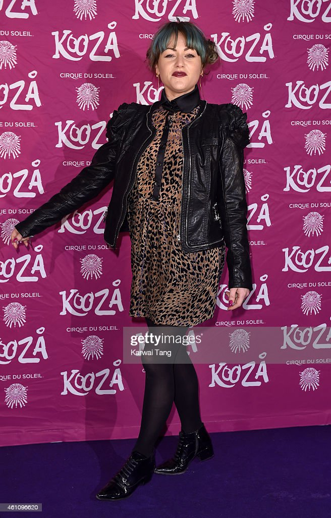 Jaime Winstone attends the VIP performance of 'Kooza' by Cirque Du Soleil at Royal Albert Hall on January 6 2015 in London England