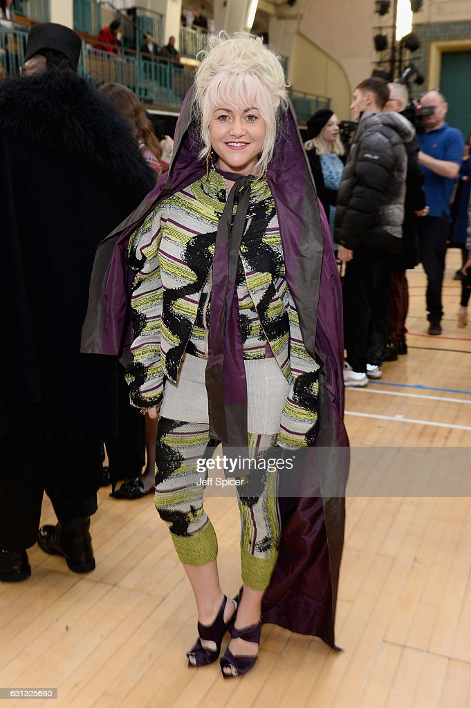Jaime Winstone attends the Vivienne Westwood show during London Fashion Week Men's January 2017 collections at Seymour Leisure Centre on January 9, 2017 in London, England.