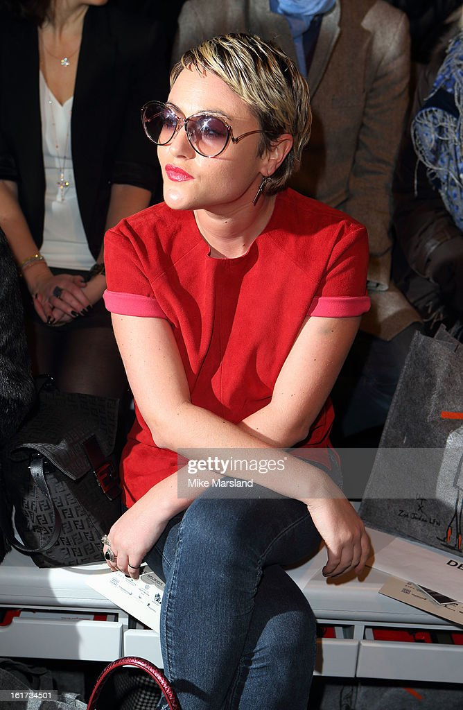 Jaime Winstone attends the Zoe Jordan show during London Fashion Week Fall/Winter 2013/14 at Somerset House on February 15, 2013 in London, England.